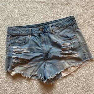 American Eagle Hi-Rise Festival Jean Shorts
